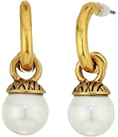 The Sak - 8mm Pearl Hoop Drop Earrings