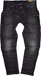 Timezone Clay More 9200 Men's Jeans Black Pirate Wash Worker