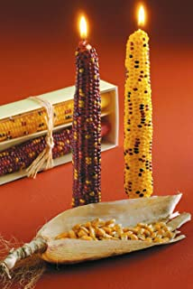 tag Harvest Corn Taper Candles - Set of 2