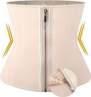 Vaslanda Waist Trainer Corset Latex for Women Hourglass Shaper with Adjustable Zipper & Hook