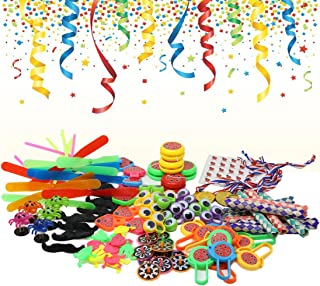 Toy Assortment Party Favor Pinata LadyBugs Party Supply Goody Bags for Kids Birthday Party School Classroom Rewards Carnival Prizes Easter Hunt Toys Pack of 100 prizes+25 stickers, By Buybug