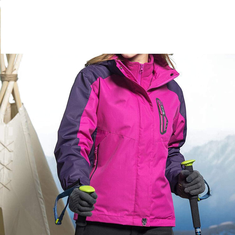 Women's Jackets Coats Windshield Plus Velvet Thicken Outdoor Winter Waterproof Hooded Sportswear Ski Mountaineering, Red