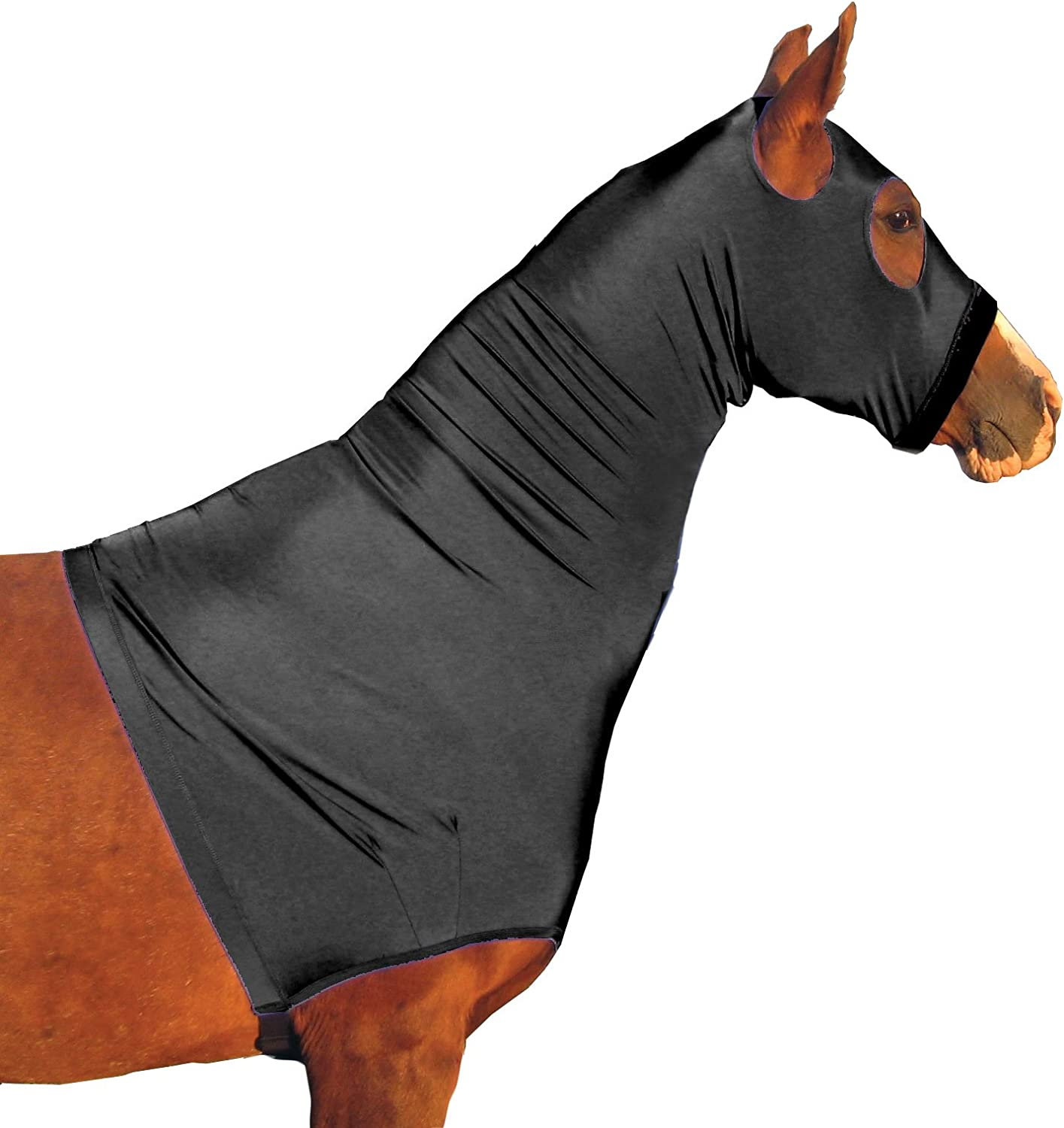 Derby Originals Lycra Stretch Horse Hoods with Zipper  Multiple colors and Sizes