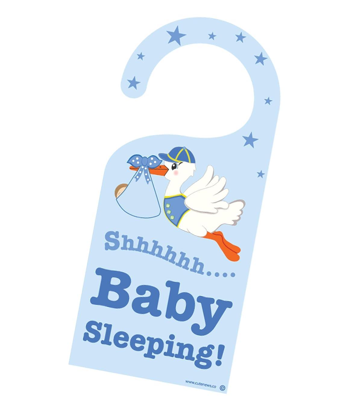 Cute News Baby Boy Sleeping Door Hanger - Do not Knock Baby Hanger - Please be Quiet Announcement - Do not Disturb Door Sign