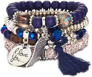Happiness-Free Multi Layer Crystal Natural Stone Beads Friendship Bracelets for Women Charm Bracelet,FOV98030