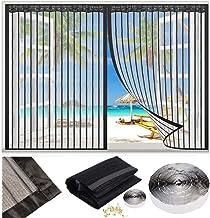 Magnetische Vliegengordijn, klamboe Hordeur, 60x65cm Garagedeur Ingang venster Ponsvrij klittenband Magneten van Boven-To...