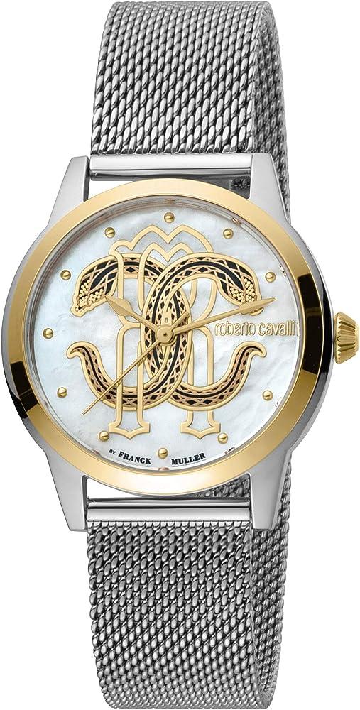 Roberto cavalli, orologio elegante per donna,in acciaio inossidabile RV1L117M0111