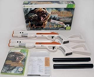 New Replacement 2-Gun Bundle Xbox 360 Cabela's Dangerous Hunts 2013 Hunting Game top Shot