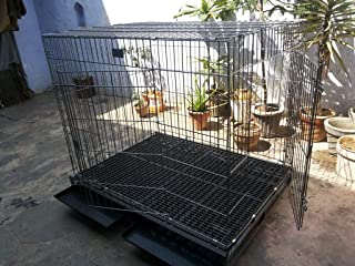Birds' Park Extra Large Dog Cage Kennel for Rottweiler, Gsd, Poodle, Boxer and Labrador (Wrought Black)