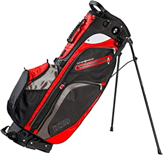 Izzo Versa Stand Golf Bag - Black, Red, Green or Blue - Golf Hybrid Stand Bag, Riding Hybrid Golf Stand Bag, Walking Hybrid Golf Stand Bag - Black, Red, Green and Blue Golf Stand Bag
