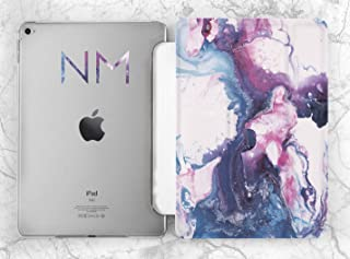 Personalized Watercolor Initials Case For Apple iPad Mini 1 2 3 4 5 iPad Air 2 3 iPad Pro 9.7 10.5 11 12.9 inch iPad 9.7 inch 2017 2018 2019