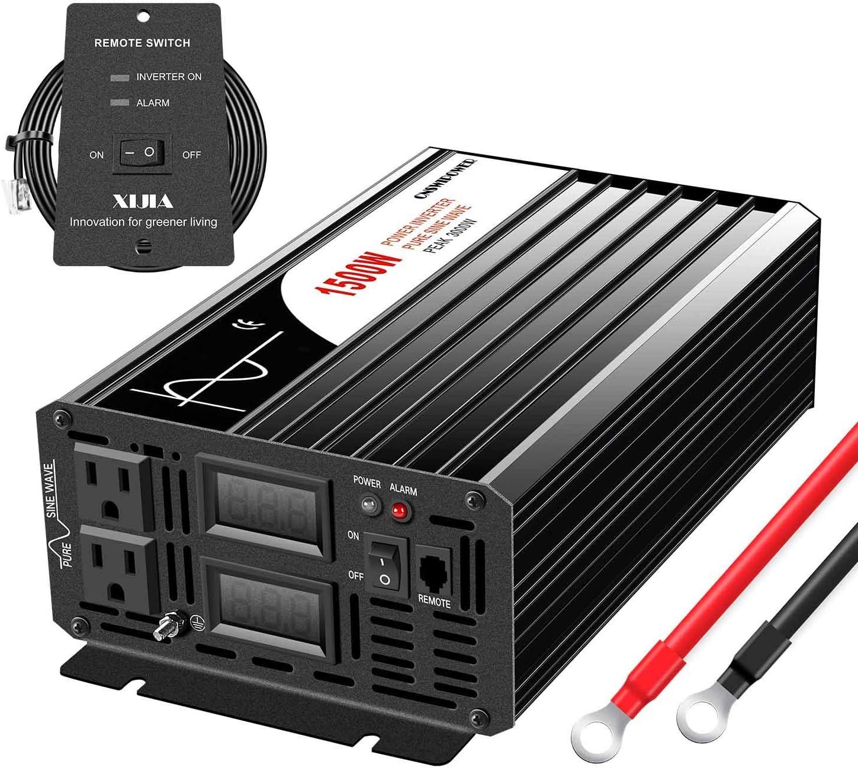 Outlet sale feature Xijia 1500W [Alternative dealer] Peak Power 3000W Wave Sine Pure Solar Inverte