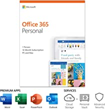 Microsoft Office 365 Personal | 12-month subscription, 1 person, PC/Mac Key Card