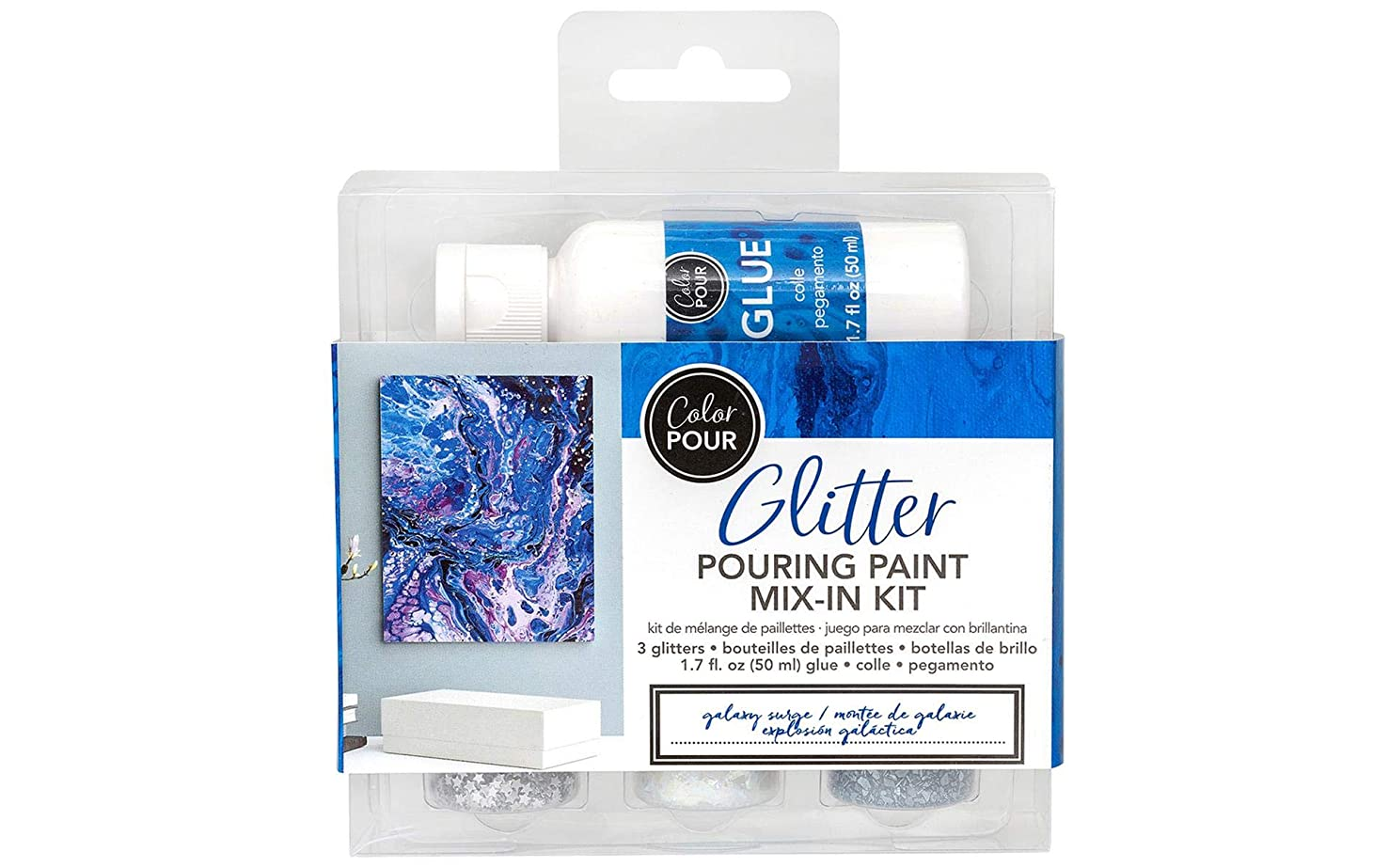 American Crafts 348485 Color Pour Mix-in Kit GrGalaxy