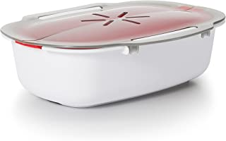OXO 11185900 Good Grips Microwave Steamer,Red Medium