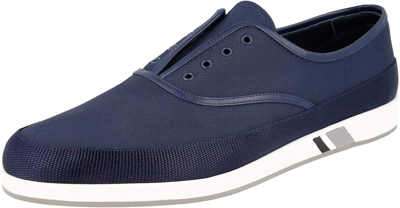 Prada Men's 4E3310 71L F073A Nylon Loafers
