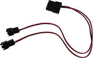 ExtremeMod 4 Pin Molex to 2 x 3 Pin Male Computer Case Fan Power Connector Y-Splitter Adapter Cable