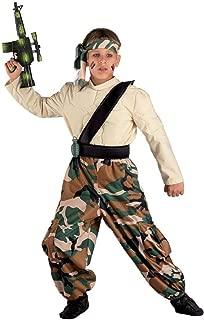 Parrucca /& COLLANA FANCY DRESS COSTUME VESTITO M-XL Da Uomo Anni/'80 SOLDATO mercenario
