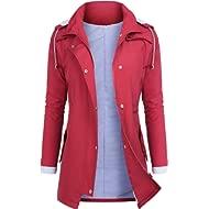 AUDIANO Rain Jackets Women... AUDIANO Rain Jackets Women Lightweight Raincoat Striped Lined Waterproof Windbreaker Active...