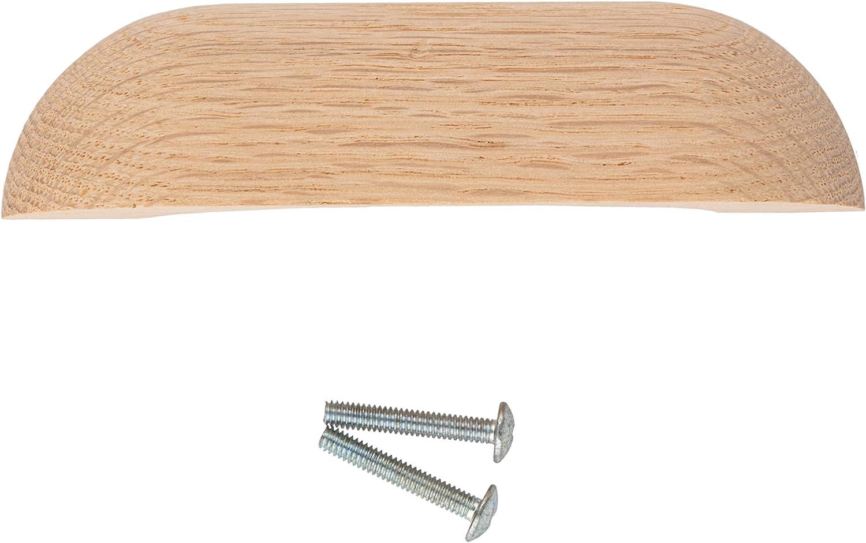 7 LARGE 5.5 centers Plain OAK Pull Handle knob desk drawer antique vintage old drawer wood rustic retro