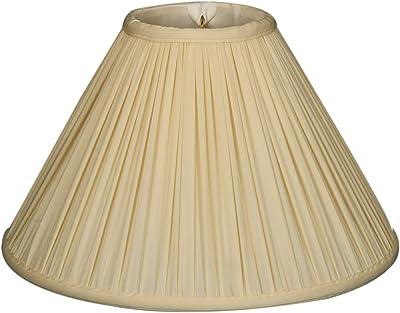 Eggshell Royal Designs BS-727-18EG Coolie Empire Side Pleat Basic Lamp Shade 6 x 18 x 11.5 Inc.