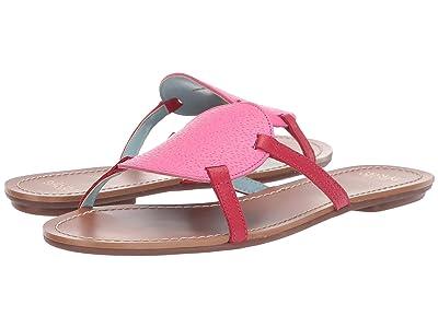 Frances Valentine Circle Slide Sandal (Pink/Red) Women