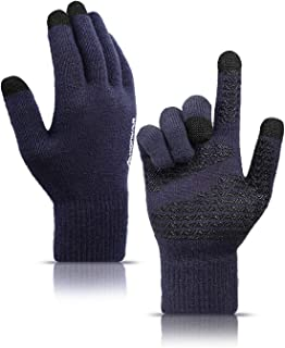 Knit Soft Winter Gloves for Men and Women with Touchscreen - Warm Lining - Elastic Cuff - Anti-slip Grip