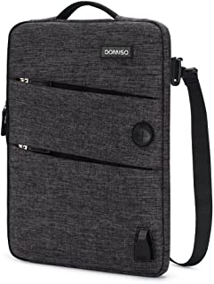 DOMISO 10.1 Inch Waterproof Laptop Sleeve Canvas with USB Charging Port Headphone Hole for 10.1-10.5 Inch Laptops / eBooks...