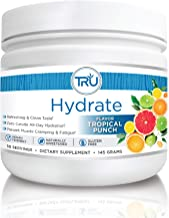 TRU Hydrate | Electrolyte Hydration Powder | Tropical Punch | 50 Servings | Sugar Free, 0 Calories, 0 Carbs - Perfect for ...