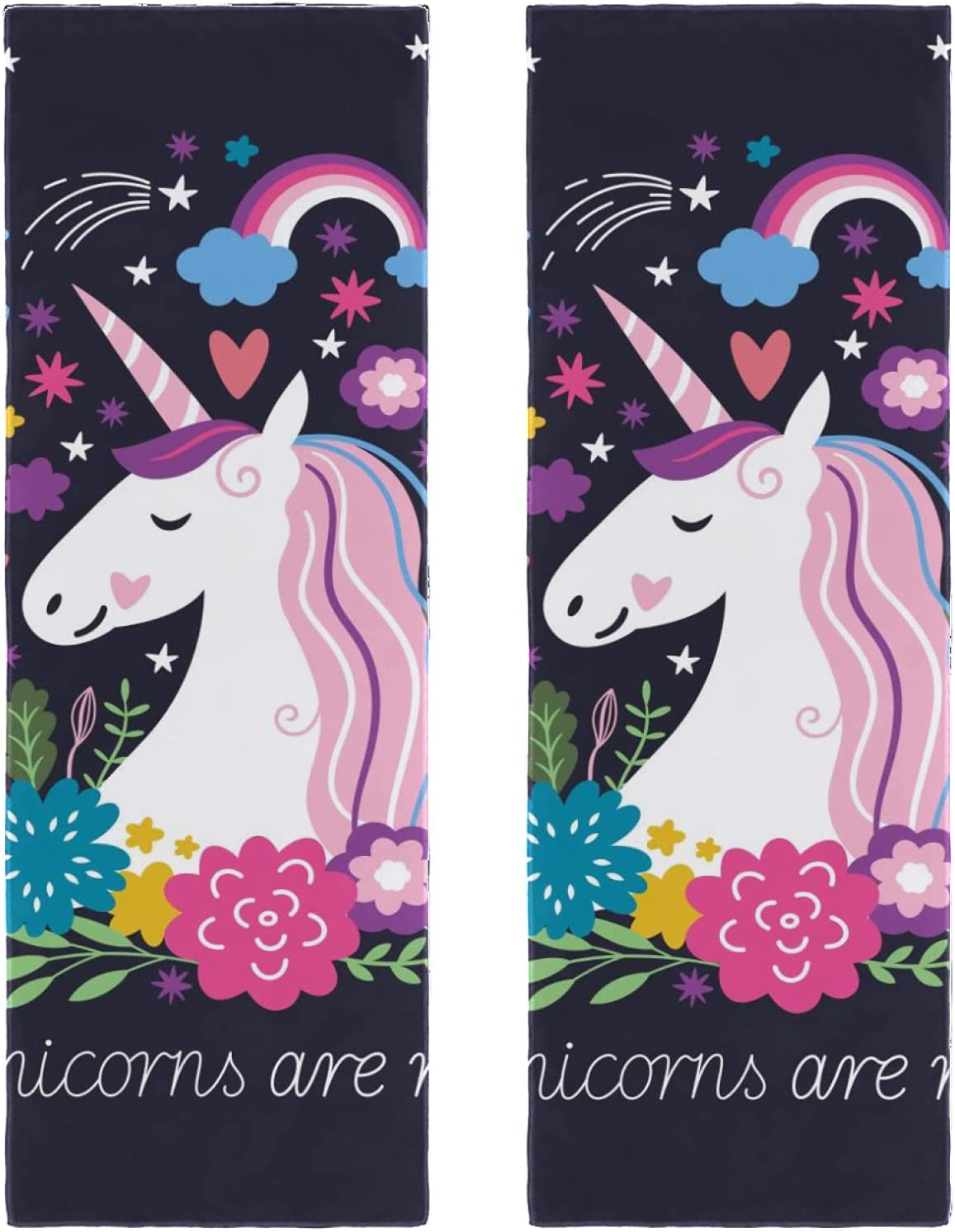 2 Packs Yoga Towel for Gym and ar Dealing full price reduction Beach Daily bargain sale Unicorn Camping Travel