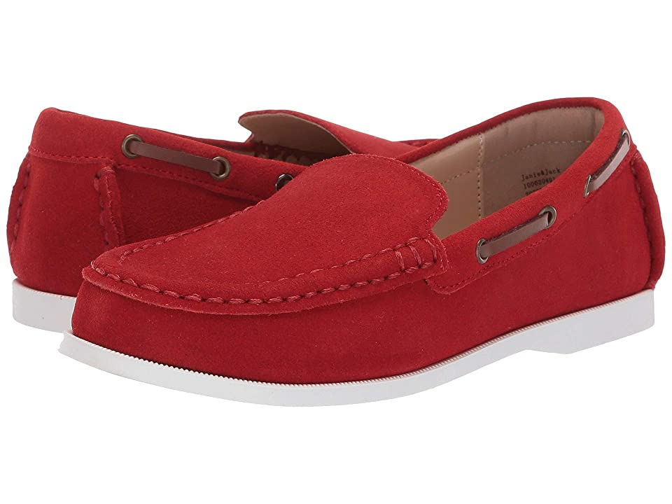 Janie and Jack Suede Driver Moccasin (Toddler/Little Kid/Big Kid) (Red) Boys Shoes