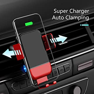 VVCAR Wireless Car Charger, CHGeek 10W Qi Fast Charging Auto Clamping Car Mount Windshield Dashboard Air Vent Phone Holder for iPhone 11 11 Pro Max Xs MAX XS XR X 8+, Samsung Galaxy S10+ S9+ S8 Note 9