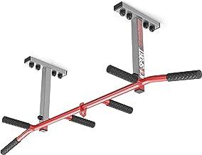 K-Sport: Optrekstang voor plafondmontage, krachtstation met pull-up bar en 3 handgrepen, optrektoren voor spiertraining, p...