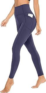 JOYSPELS Anti Cellulite Leggings mit Seitentaschen, Blickdichte High Waist Damen Sporthose Yoga Hose für Sport Alltag