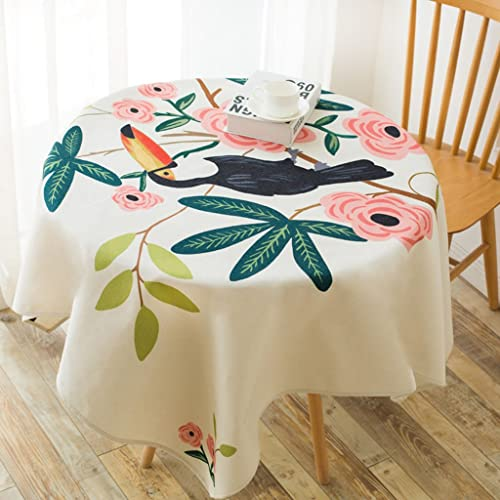 %tablecloth Modern Simple Cotton Square Tischdecke - Couchtisch Living Room Dicke Pfund Mixed Material Handgemalte Rustikale Stil Verschlei st ( Farbe   A , Größe   Square tablecloth-140140cm )