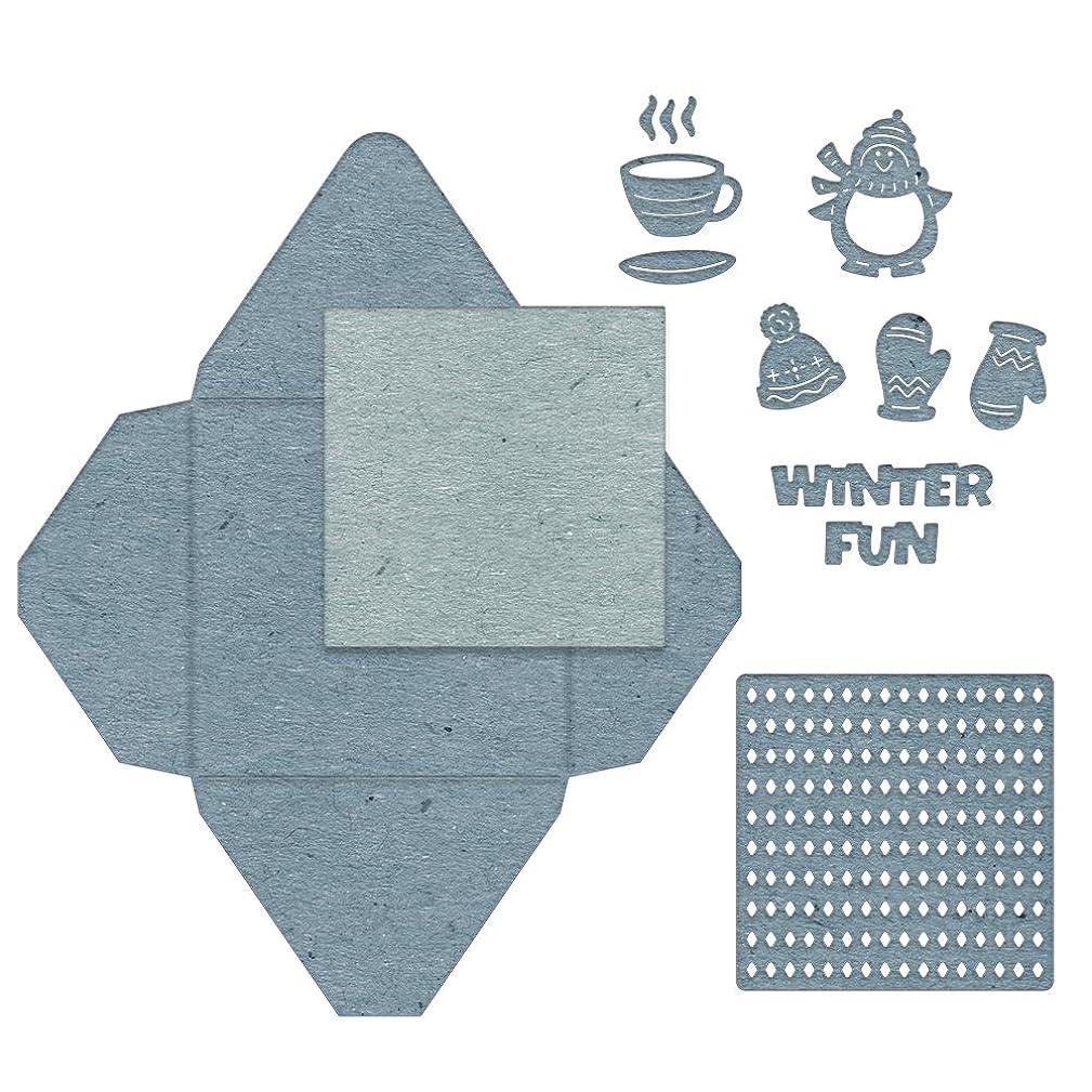 Cheery Lynn Designs B859 Winter Fun Gift Envelope 11 Piece Die Set