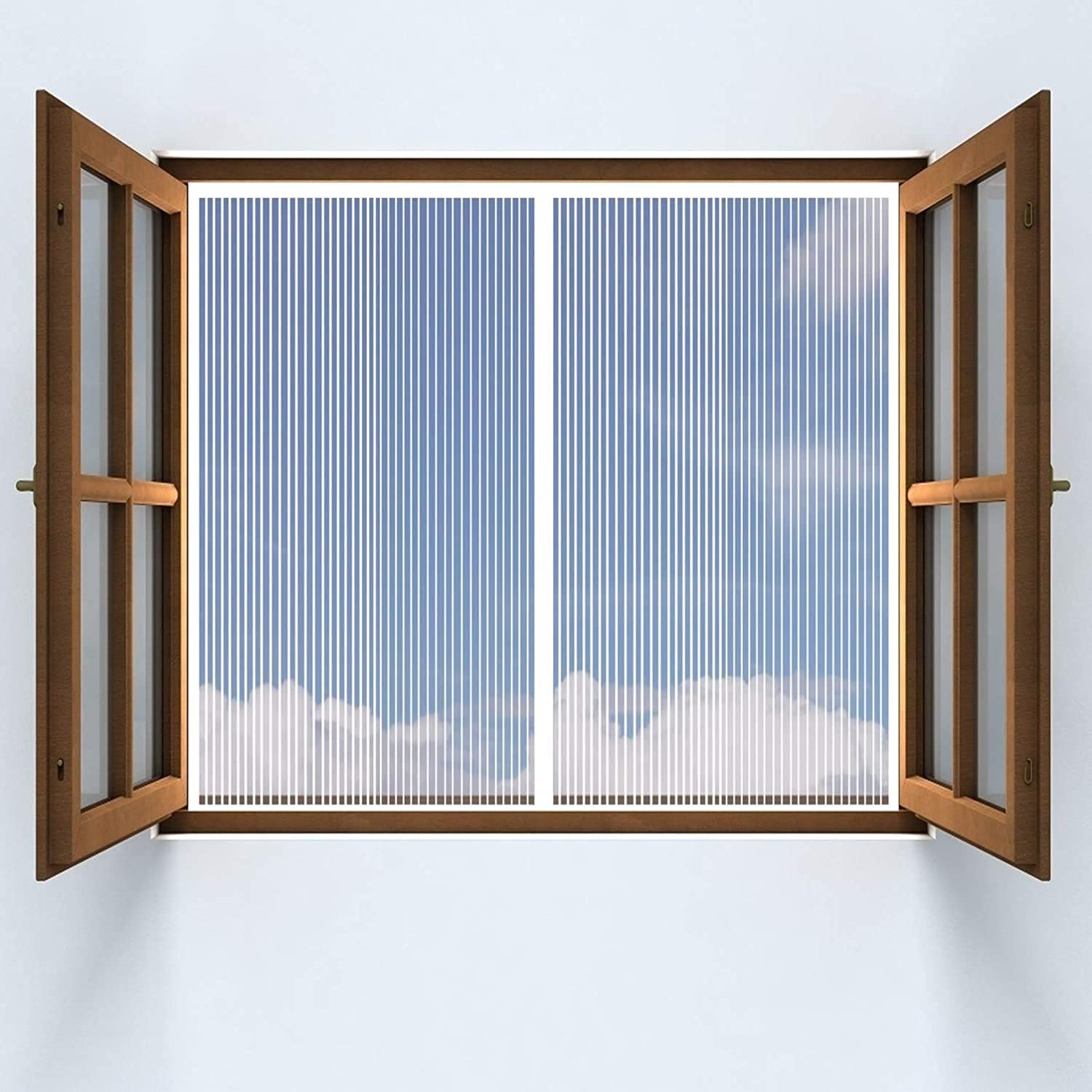 shopping HAODELE Window Screen 110x140cm Tight Closure Japan's largest assortment Automatically Past