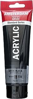 Royal Talens Amsterdam Standard Series Acrylic Color, 120ml Tube, Oxide Black (17097352)