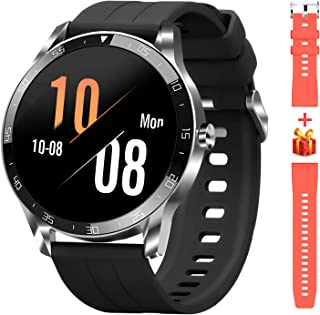 Reloj inteligente Blackview para teléfonos Android y iOS, relojes inteligentes para hombres y mujeres, reloj de seguimiento de actividad física con monitor de ritmo cardíaco, pantalla táctil completa de 1,3 pulgadas, podómetro impermeable de 5 ATM (1.811in) Plateado