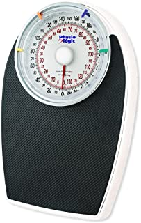Physio Logic Pro Series Mechanical Analog Body Weight Bathroom Scale, Black