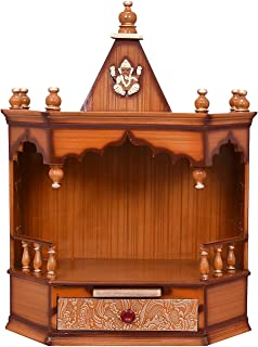 Makan Wall Hanging Wooden Home Temple/puja mandir/Wooden Temple/Temple for Home/puja ghar/Temple/Pooja Mandir/Temple for Home/Office Temple/Navratre/Diwali Festive Season Gifts and puja