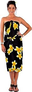 La Fleva Women's Fringeless Tahitian Lei Sarong