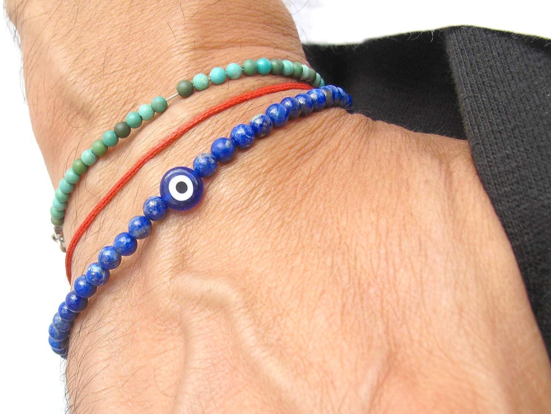blue lapis lazuli gemstone silver Spring new work evil bracelet eye mart