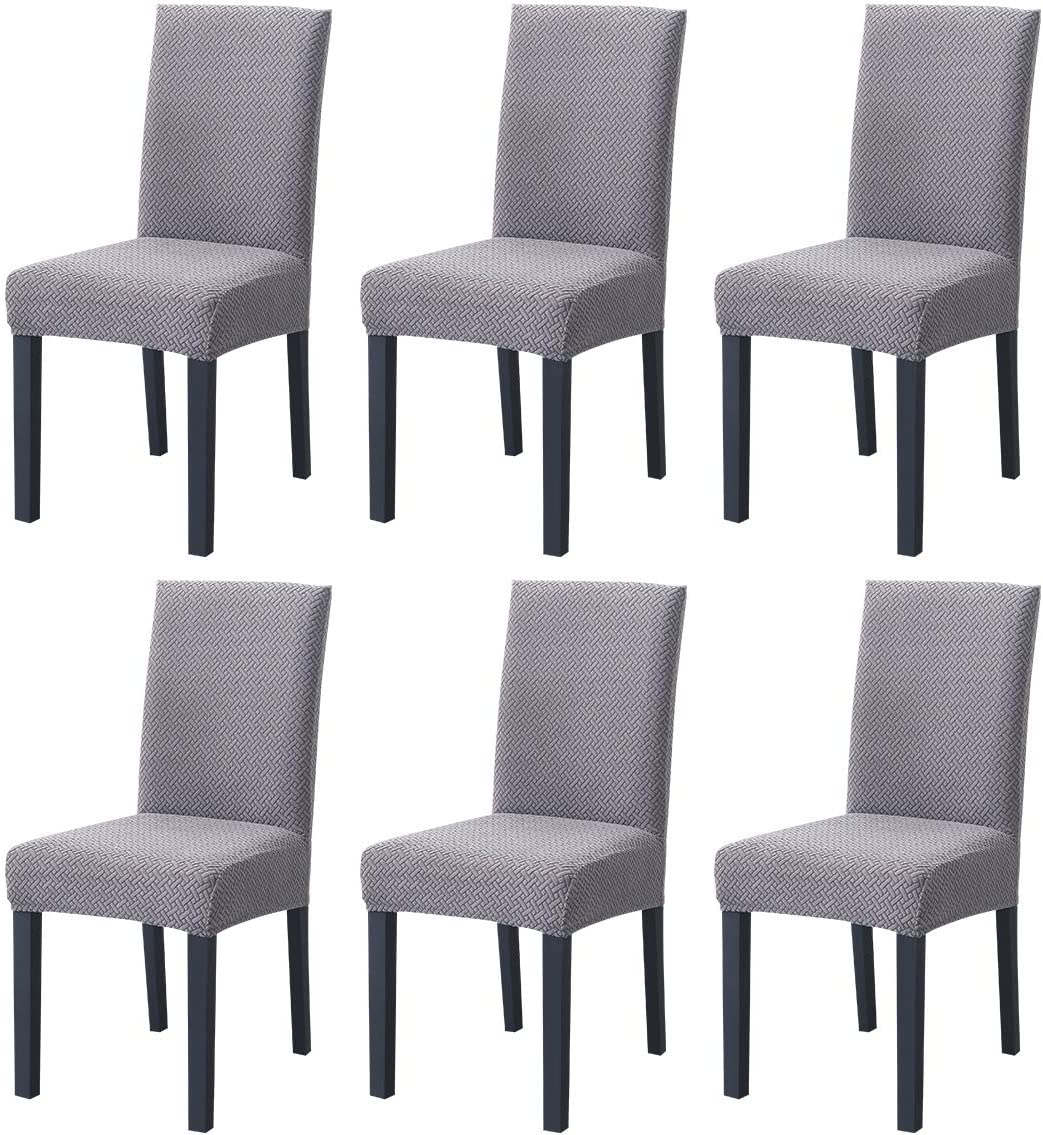 TOPCHANCES Deluxe Knitted Jacquard Chair Omaha Mall Covers Soft Elastic Stretch Wa