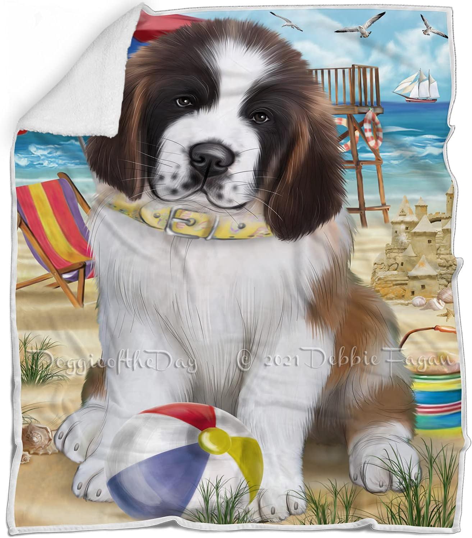 Pet Friendly Surprise price Beach Saint Bernard Blanket Brand new Multicolor Fluffy - Dog
