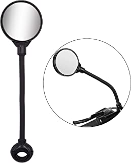 Jeemitery Bike Mirror Rotatable and Adjustable Wide Angle Rear View Shockproof Convex Mirror Universal for Bike Bicycle Electric Bike Motorcycle