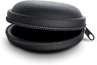 Adminitto88 Borsa Universale per Auricolare Bluetooth Wireless Custodia Rigida in Pelle PU Custodia Protettiva per Custodia Rigida Portatile per Jabra Elite 65T Sweetie