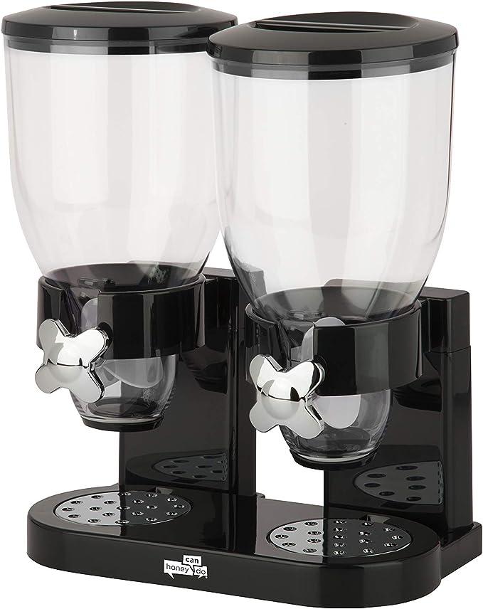 Zevro / GAT200 Диспенсер для сухих продуктов, двойной контроль, черный / хром