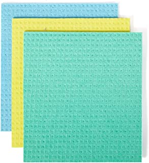 Full Circle Reusable Cellulose Sponge Clothes, 3 Pack