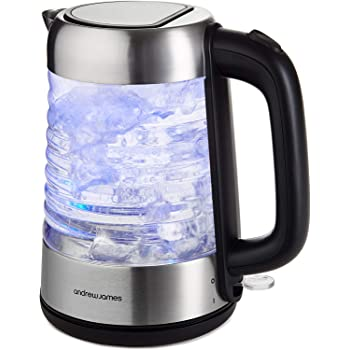 Sensio Home Electric Cordless Glass Kettle 1.7L Quiet Fast
